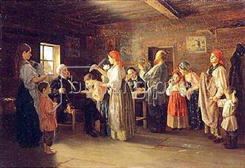 Wassily Kallistov: Inspektion in einem Kinderheim. 1866.