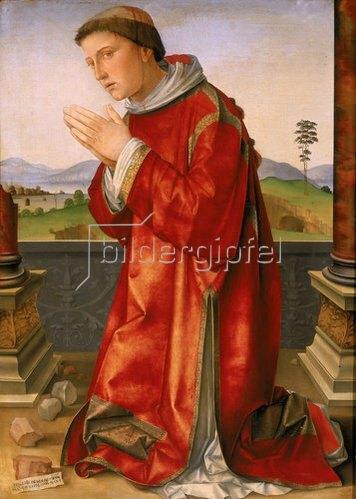 Francesco (Raibolini) Francia: Martyrium des heiligen Stephan. Ca. 1475