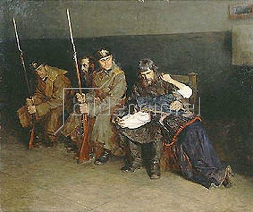 Nikolaj A Kasatkin: Auf dem Flur des Distrikts-Gerichtes 1897.