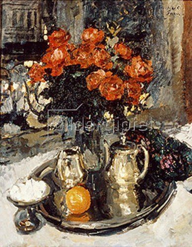 Alexejew. Konstantin Korovin: Rosen und Veilchen. 1912.