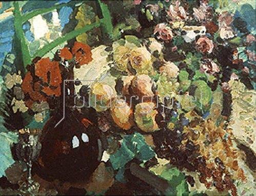 Alexejew. Konstantin Korovin: Stillleben mit Früchten und Trauben. 1917.
