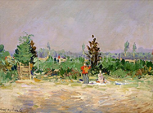 Alexejew. Konstantin Korovin: An einem heissen Tag bei Moskau. 1921