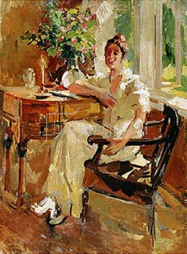 Alexejew. Konstantin Korovin: Frau L.F. Schaljapina. 1921.