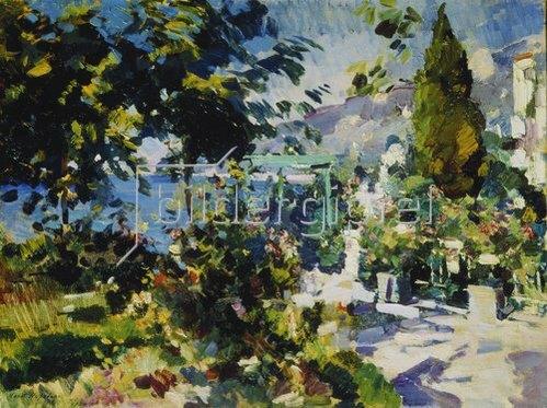 Alexejew. Konstantin Korovin: Terrasse am Meer in Gursuph. 1914.