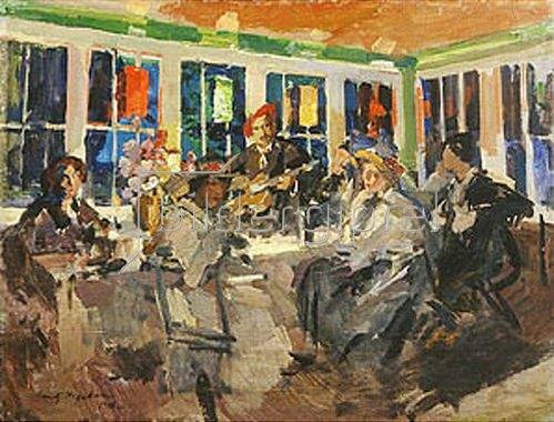 Alexejew. Konstantin Korovin: In einem Café. 1918.
