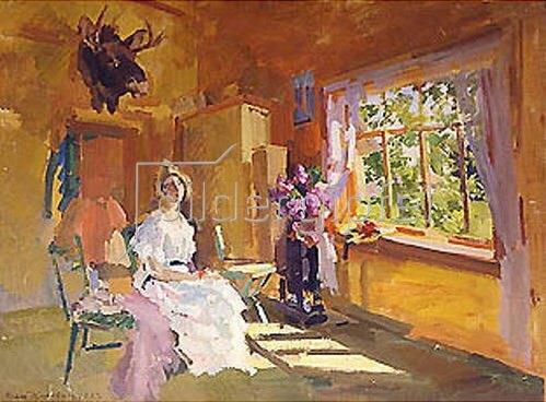 Alexejew. Konstantin Korovin: Sonniger Innenraum. 1922.