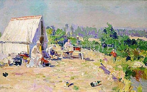 Alexejew. Konstantin Korovin: Picknick. 1906.