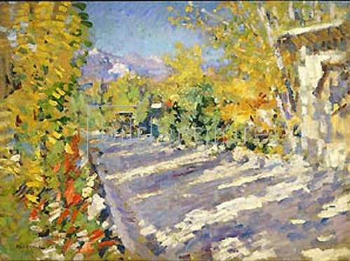 Alexejew. Konstantin Korovin: Strasse nach Gursuph. 1913.