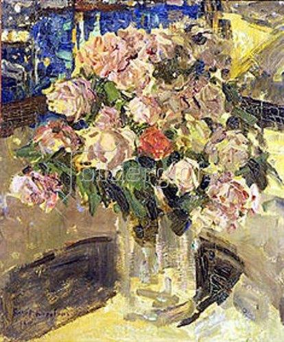Alexejew. Konstantin Korovin: Rosenstrauss in Glasvase. 1910.