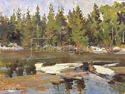 Alexejew. Konstantin Korovin: Frühling am Fluss. 1915.