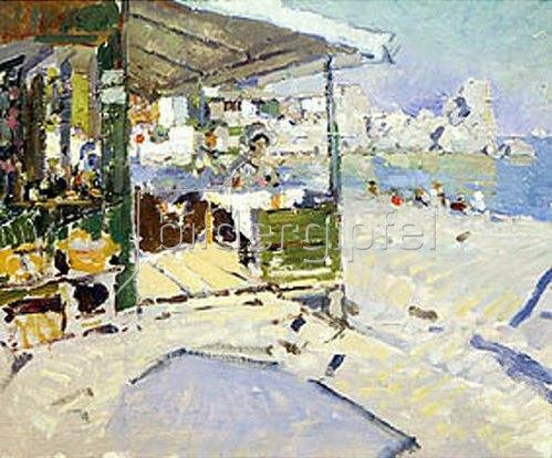Alexejew. Konstantin Korovin: Am Strand auf der Krim. 1913.