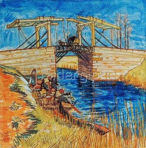 Vincent van Gogh: Die Brücke von Langlois in Arles. Arles 1888.