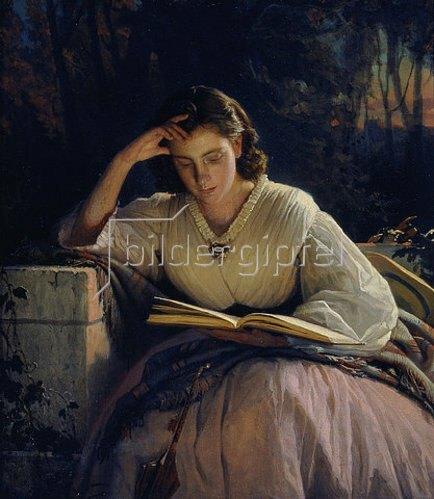 Iwan Kramskoi: Die Frau des Künstlers, lesend. 1863