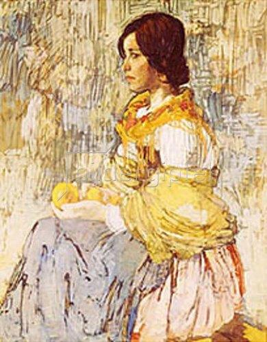 Alexej Krawtschenko: Italienerin mit Orangen. 1911.