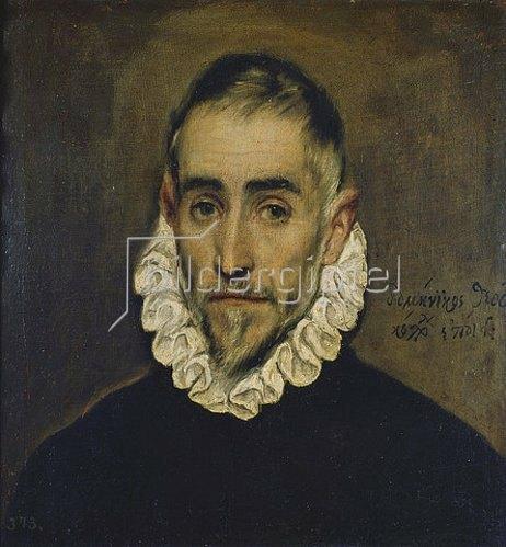 Greco El (Dominikos Theotokopoulos): Portrait eines Edelmannes. Um 1585/90