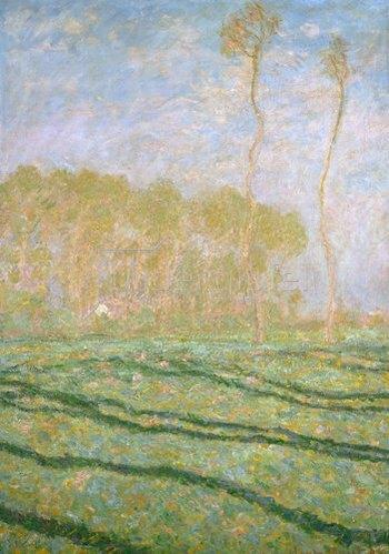 Claude Monet: Frühlingslandschaft bei Giverny. 1894.