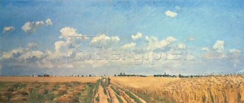 Camille Pissarro: Sommer (Kornfelder, aus: Die vier Jahreszeiten). 1872/1873