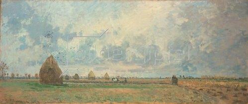 Camille Pissarro: Herbst (aus: Die vier Jahreszeiten). 1873.