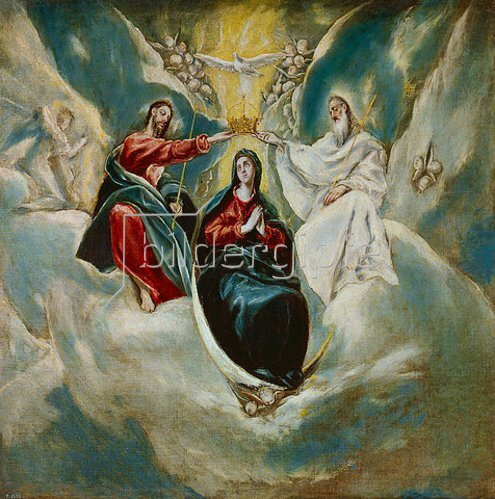 Greco El (Dominikos Theotokopoulos): Krönung Mariae. 1592