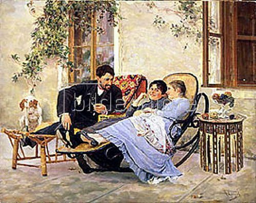 Nikolaj Kusnezow: Nach dem Abendessen. 1888.