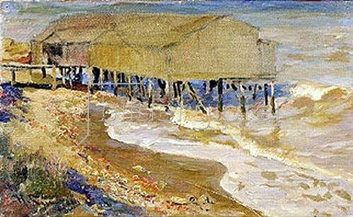 Nikolaj Kusnezow: Badehaus im Meer.