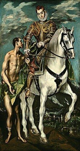 Greco El (Dominikos Theotokopoulos): Der hl. Martin und der Bettler. 1600/14