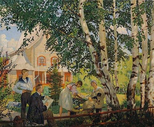 Boris Michailowitsch Kustodiev: Mein Heim. 1914/1918