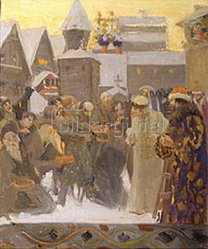 Boris Michailowitsch Kustodiev: Zar Iwan der Schreckliche geht aus. 1900.