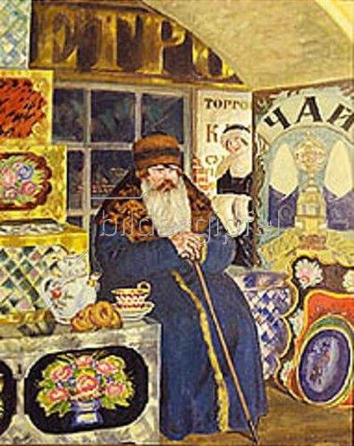 Boris Michailowitsch Kustodiev: Ein russicher Kaufmann. 1923.