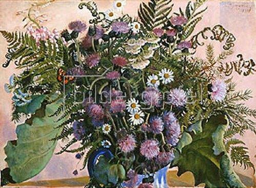 Boris Michailowitsch Kustodiev: Das finnische Bouquet. 1917.