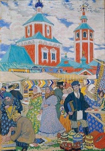 Boris Michailowitsch Kustodiev: Auf dem Jahrmarkt. 1910.