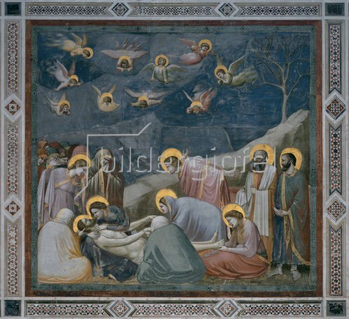Giotto di Bondone: Die Beweinung Christi. 1305.