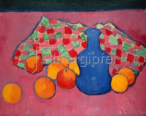 Alexej von Jawlensky: Blaue Vase mit Orangen. Um 1907.