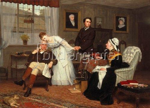 James Hayllar: Die einzige Tochter. 1875.