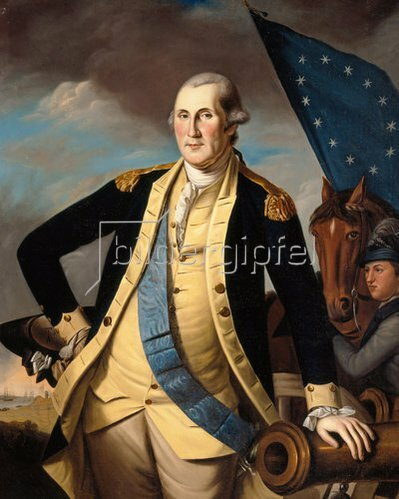Charles Willson Peale: Bildnis George Washington. Um 1780/1782