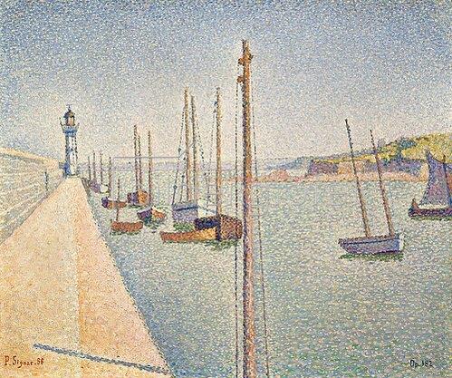 Paul Signac: Masten. Portrieux 1888, Opus 182.