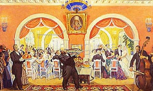 Boris Michailowitsch Kustodiev: Ein Hochzeitsfest. 1917.