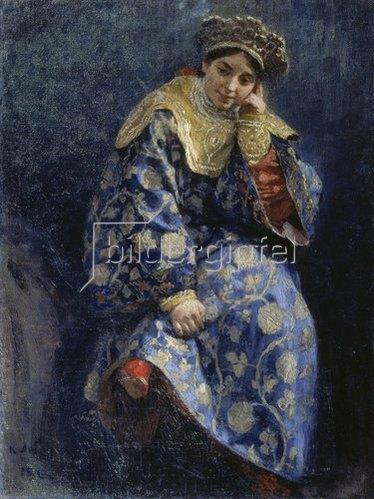 Klawdij Wassiljew Lebedjeff: Bojaren-Mädchen (Bojarschnija). 1902.
