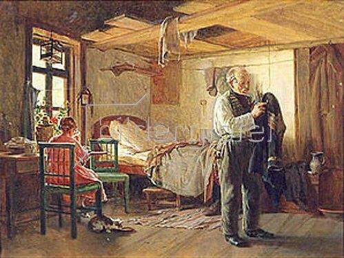 Kirill Lemoch: Morgen im Schlafraum eines Gepäckträgers. 1874.
