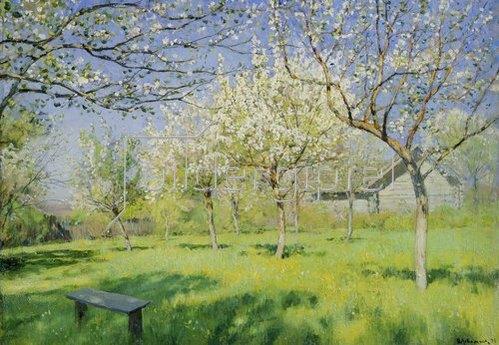 Isaak Iljitsch Lewitan: Apfelbäume in Blüte.  Um 1895.
