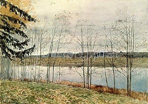 Isaak Iljitsch Lewitan: Kahle herbstliche Bäume am Wasser. 1896.