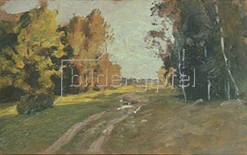 Isaak Iljitsch Lewitan: Waldweg im Herbst. 1894.