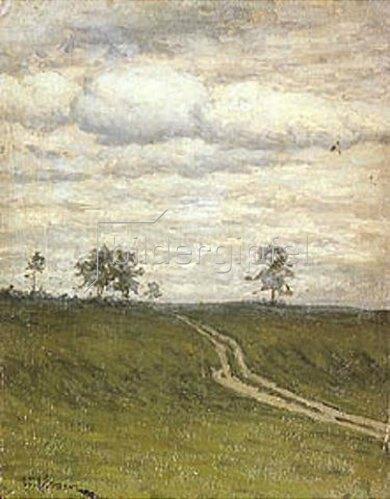 Isaak Iljitsch Lewitan: Weg in einsamer Landschaft. 1899.