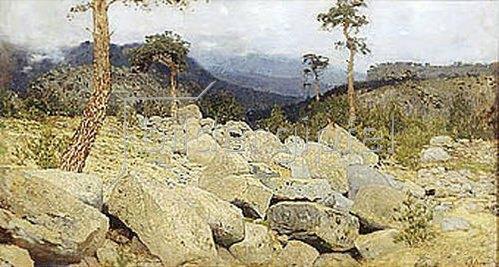 Isaak Iljitsch Lewitan: Felsenlandschaft in den Bergen der Krim. 1886.