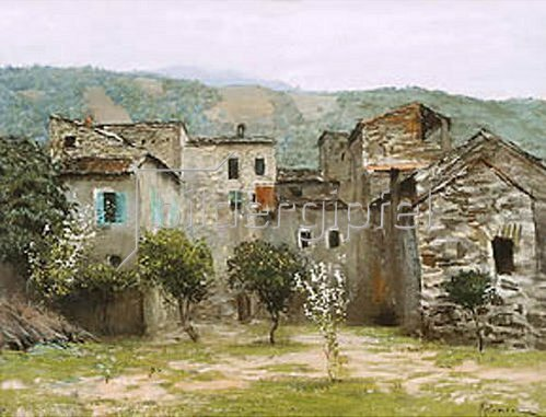 Isaak Iljitsch Lewitan: Häuser bei Bordhigera (Nord-Italien). 1890.