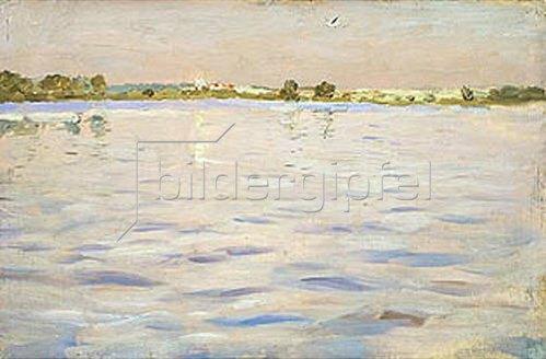 Isaak Iljitsch Lewitan: Letzte Sonnenstrahlen über dem See. 1898/1899.