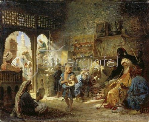 Konstantin Jegor Makovskij: Kaffeehaus in Kairo. 1872.
