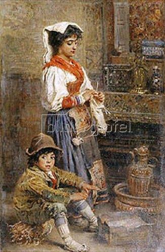 Konstantin Jegor Makovskij: Zwei Modelle warten auf den Maler. 1904.