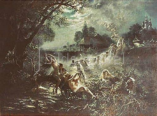 Konstantin Jegor Makovskij: Tanzende Meerjungfrauen im Mondlicht. 1879.