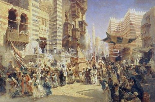 Konstantin Jegor Makovskij: Überführung des Heiligen Teppichs von Mekka nach Kairo. 1876.
